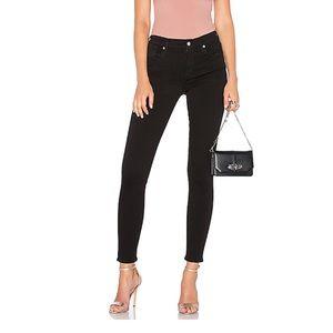Agolde Jeans Sophie High Rise Skinny 31 Black Jet